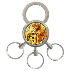 Colourful Abstract Background Design 3 Ring Key Chains