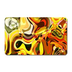 Colourful Abstract Background Design Magnet (rectangular)