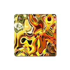 Colourful Abstract Background Design Square Magnet