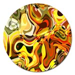 Colourful Abstract Background Design Magnet 5  (Round) Front