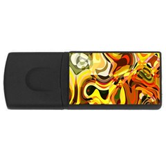 Colourful Abstract Background Design USB Flash Drive Rectangular (2 GB)