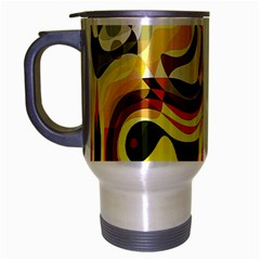 Colourful Abstract Background Design Travel Mug (Silver Gray)