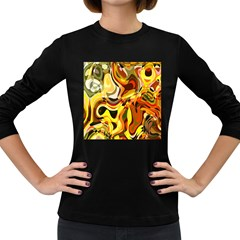 Colourful Abstract Background Design Women s Long Sleeve Dark T Shirts