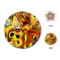 Colourful Abstract Background Design Playing Cards (round)