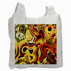Colourful Abstract Background Design Recycle Bag (one Side)