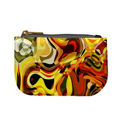 Colourful Abstract Background Design Mini Coin Purses