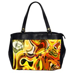 Colourful Abstract Background Design Office Handbags (2 Sides)