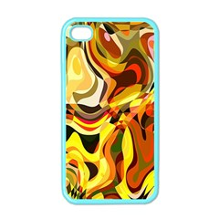 Colourful Abstract Background Design Apple iPhone 4 Case (Color)