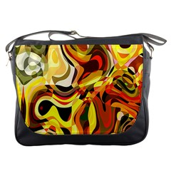 Colourful Abstract Background Design Messenger Bags