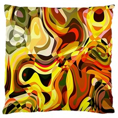 Colourful Abstract Background Design Large Cushion Case (Two Sides)