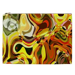 Colourful Abstract Background Design Cosmetic Bag (XXL)