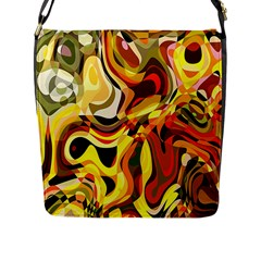 Colourful Abstract Background Design Flap Messenger Bag (L)
