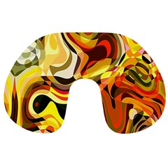 Colourful Abstract Background Design Travel Neck Pillows
