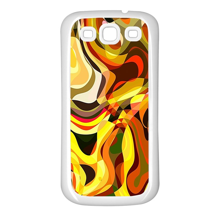 Colourful Abstract Background Design Samsung Galaxy S3 Back Case (White)