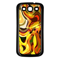 Colourful Abstract Background Design Samsung Galaxy S3 Back Case (Black)