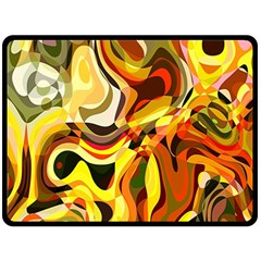 Colourful Abstract Background Design Double Sided Fleece Blanket (Large)