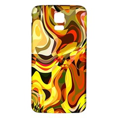 Colourful Abstract Background Design Samsung Galaxy S5 Back Case (White)