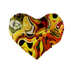 Colourful Abstract Background Design Standard 16  Premium Flano Heart Shape Cushions