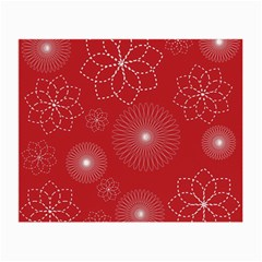 Floral Spirals Wallpaper Background Red Pattern Small Glasses Cloth