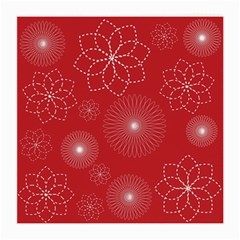 Floral Spirals Wallpaper Background Red Pattern Medium Glasses Cloth