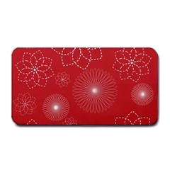 Floral Spirals Wallpaper Background Red Pattern Medium Bar Mats