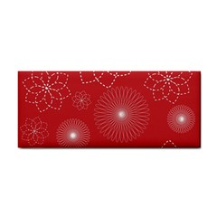 Floral Spirals Wallpaper Background Red Pattern Cosmetic Storage Cases