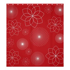 Floral Spirals Wallpaper Background Red Pattern Shower Curtain 66  X 72  (large)