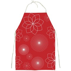 Floral Spirals Wallpaper Background Red Pattern Full Print Aprons