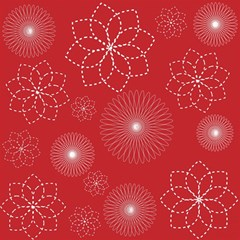 Floral Spirals Wallpaper Background Red Pattern Magic Photo Cubes