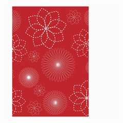Floral Spirals Wallpaper Background Red Pattern Small Garden Flag (Two Sides)