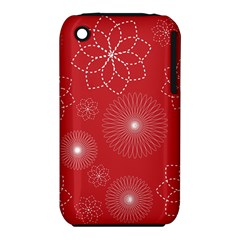 Floral Spirals Wallpaper Background Red Pattern Iphone 3s/3gs