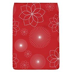 Floral Spirals Wallpaper Background Red Pattern Flap Covers (S)