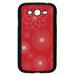Floral Spirals Wallpaper Background Red Pattern Samsung Galaxy Grand DUOS I9082 Case (Black)