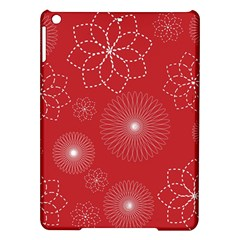 Floral Spirals Wallpaper Background Red Pattern Ipad Air Hardshell Cases
