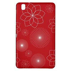 Floral Spirals Wallpaper Background Red Pattern Samsung Galaxy Tab Pro 8.4 Hardshell Case