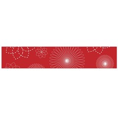 Floral Spirals Wallpaper Background Red Pattern Flano Scarf (large)