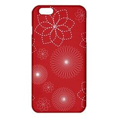Floral Spirals Wallpaper Background Red Pattern iPhone 6 Plus/6S Plus TPU Case