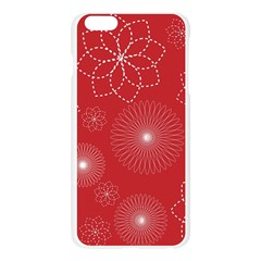 Floral Spirals Wallpaper Background Red Pattern Apple Seamless iPhone 6 Plus/6S Plus Case (Transparent)