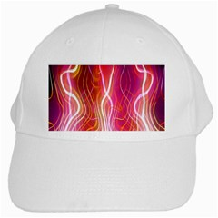 Fire Flames Abstract Background White Cap
