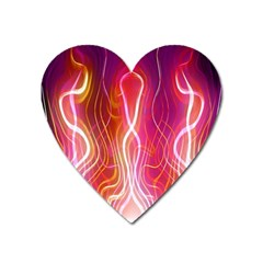 Fire Flames Abstract Background Heart Magnet