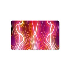 Fire Flames Abstract Background Magnet (name Card)