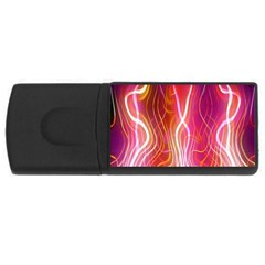 Fire Flames Abstract Background USB Flash Drive Rectangular (1 GB)