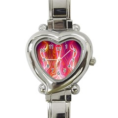 Fire Flames Abstract Background Heart Italian Charm Watch