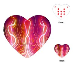 Fire Flames Abstract Background Playing Cards (Heart)