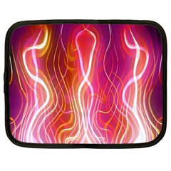 Fire Flames Abstract Background Netbook Case (Large)