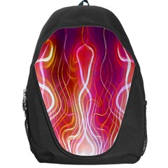 Fire Flames Abstract Background Backpack Bag