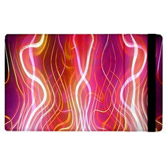 Fire Flames Abstract Background Apple iPad 3/4 Flip Case