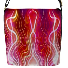Fire Flames Abstract Background Flap Messenger Bag (S)