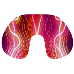Fire Flames Abstract Background Travel Neck Pillows