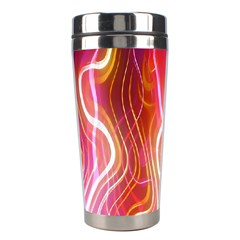 Fire Flames Abstract Background Stainless Steel Travel Tumblers